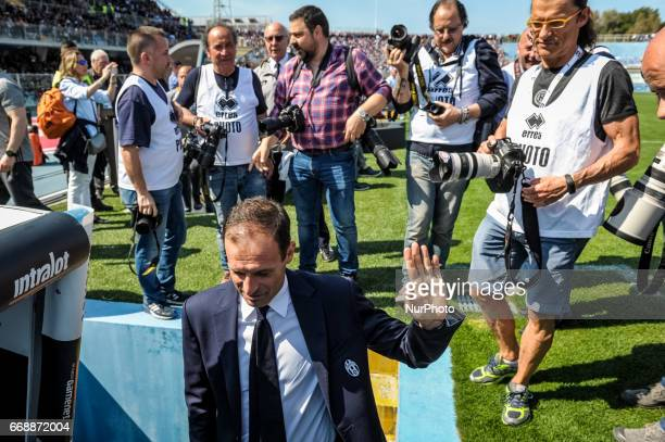 Allegri Massimiliano during the Italian Serie A football match Pescara vs Juventus on April 15 in Pescara Italy