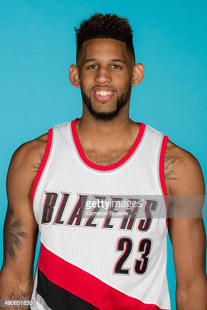 Allen Crabbe of the Portland Trail Blazers poses for a head shot during media day on September 28 2015 at the MODA Center Arena in Portland Oregon...
