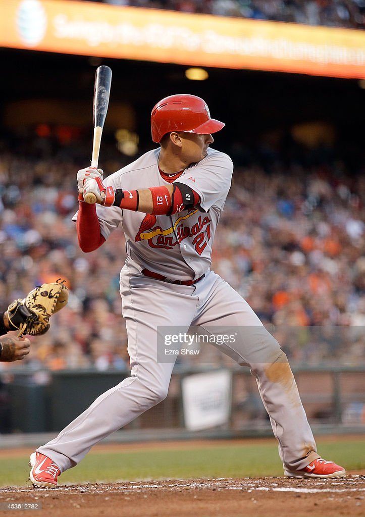 <a gi-track='captionPersonalityLinkClicked' href=/galleries/search?phrase=Allen+Craig&family=editorial&specificpeople=4405049 ng-click='$event.stopPropagation()'>Allen Craig</a> #21 of the St. Louis Cardinals bats against the San Francisco Giants at AT&T Park on July 1, 2014 in San Francisco, California.
