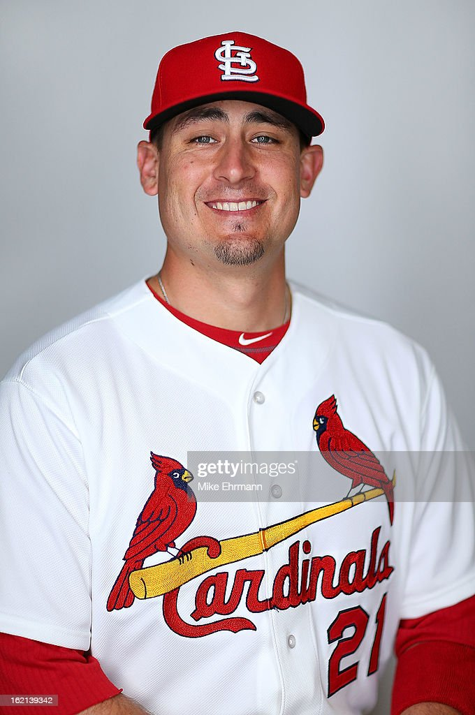 Allen Craig #21 of the St. Louis Cardinals poses during photo day at Roger Dean Stadium on February 19, 2013 in Jupiter, Florida.