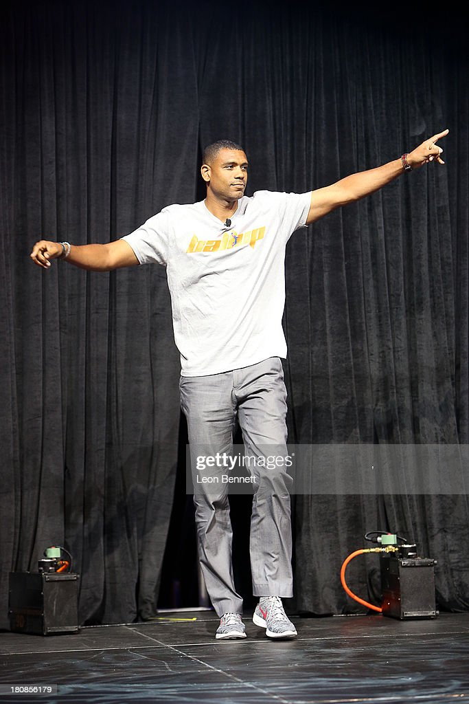 Allen Houston attends the Ball Up 'Search For the Next' Tour Celebrity Game at Megafest on August 31, 2013 in Dallas, United States.