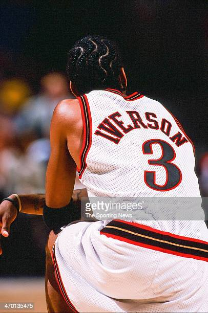 Allen Iverson of the Philadelphia 76ers during the game against the New Jersey Nets on October 22 1999 at First Union Center in Philadelphia...
