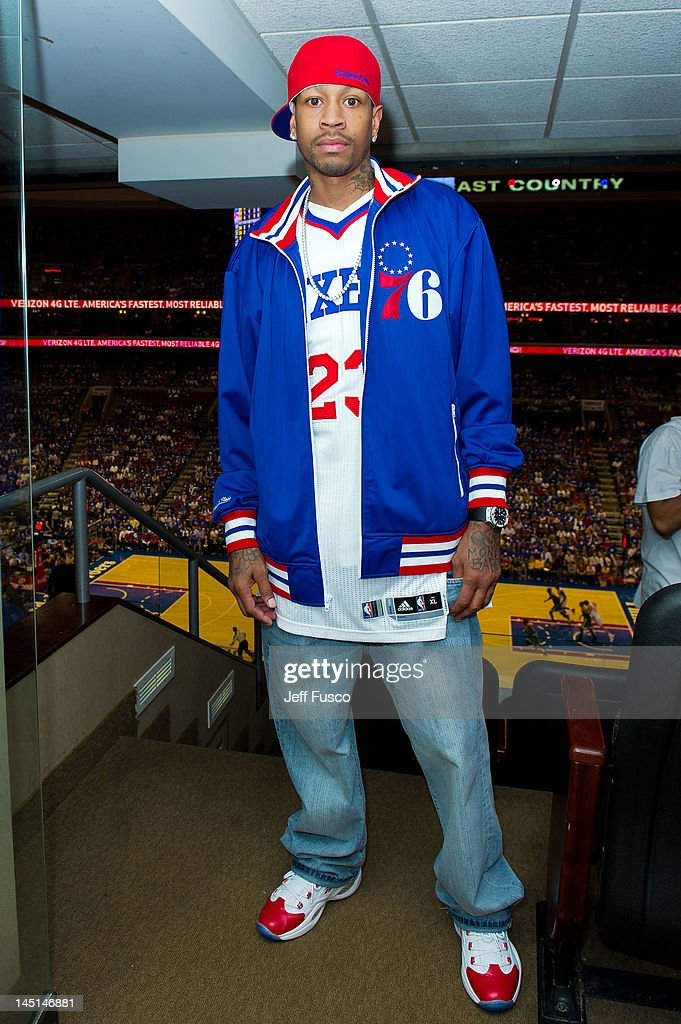 <a gi-track='captionPersonalityLinkClicked' href=/galleries/search?phrase=Allen+Iverson+-+Basketball+Player&family=editorial&specificpeople=201479 ng-click='$event.stopPropagation()'>Allen Iverson</a> poses at the Wells Fargo Center on May 23, 2012 in Philadelphia, Pennsylvania. Iverson's original Reebok Question re-launches Friday, May 25th for the first time since 1996.