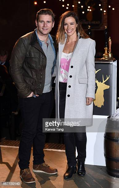Allen Leech and Charlie Webster attend the Centrepoint Ultimate Pub Quiz at Village Underground on February 3 2015 in London England