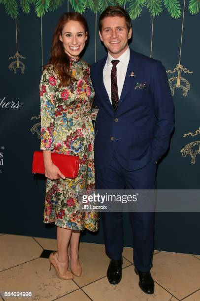 Allen Leech and Jessica Blair Herman attend the Brooks Brothers holiday celebration with St Jude Children's Research Hospital at Brooks Brothers...