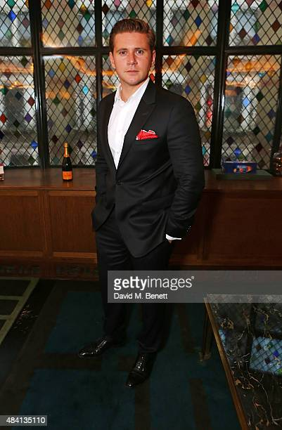 Allen Leech attends the Downton Abbey wrap party at The Ivy on August 15 2015 in London England