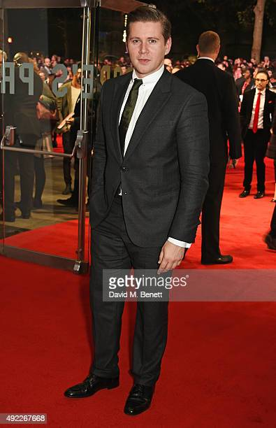 Allen Leech attends the Virgin Atlantic gala screening of 'Black Mass' during the BFI London Film Festival at Odeon Leicester Square on October 11...
