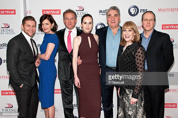 Allen Leech Elizabeth McGovern Hugh Bonneville Michelle Dockery Jim Carter Phyllis Logan and Kevin Doyle attend the 'Downton Abbey' series season six...