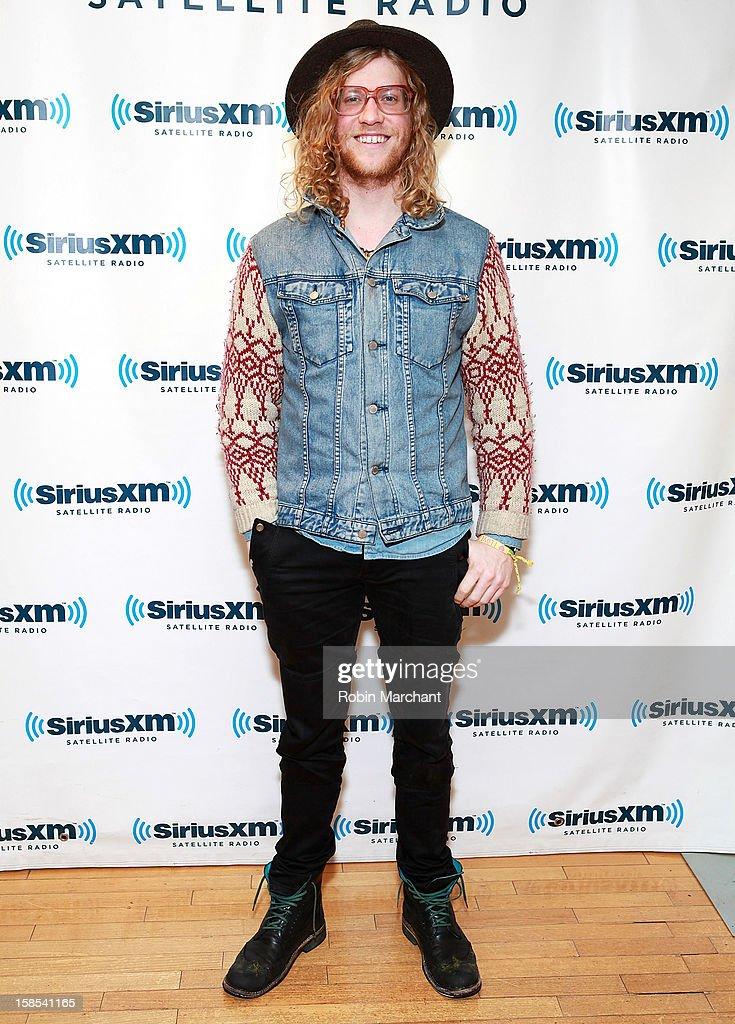 Allen Stone visits the SiriusXM Studios on December 18, 2012 in New York City.