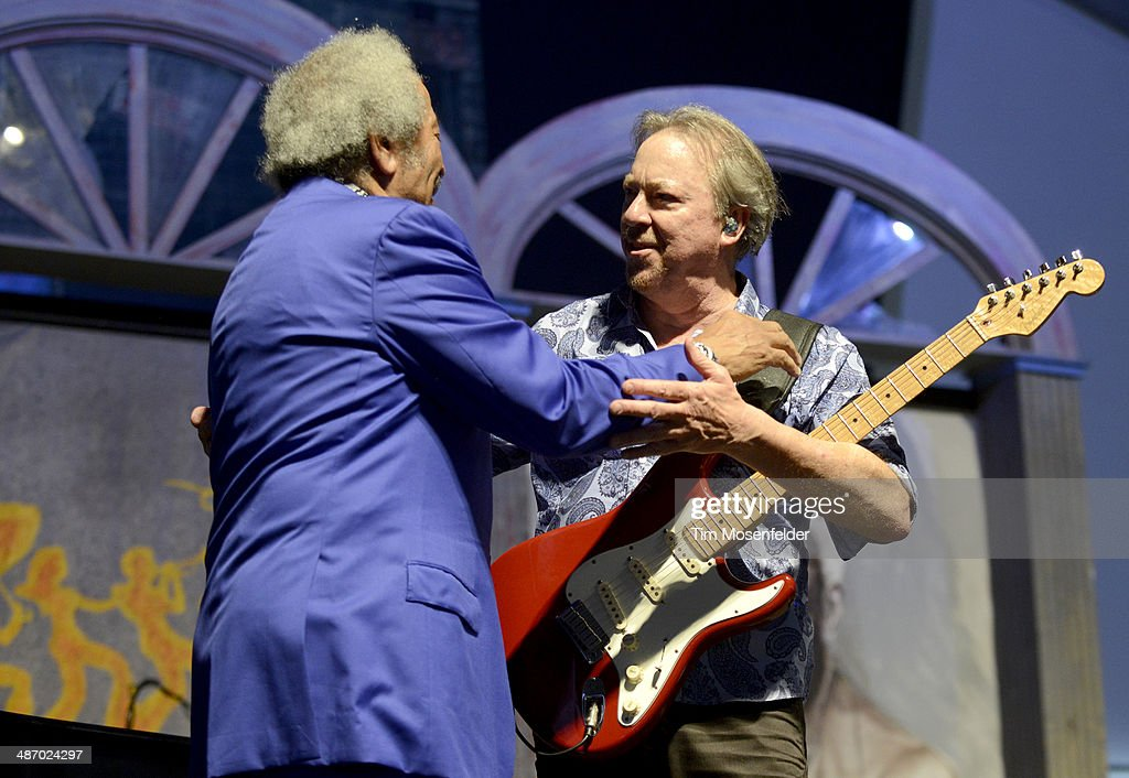 Allen Toussaint (L) and Boz Scaggs perform during the 2014 New Orleans Jazz & Heritage Festival Day 2 at Fair Grounds Race Course on April 26, 2014 in New Orleans, Louisiana.