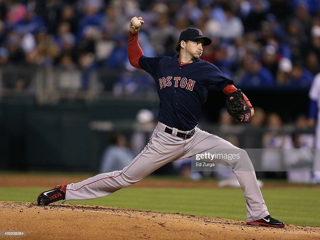 <a gi-track='captionPersonalityLinkClicked' href=/galleries/search?phrase=Allen+Webster&family=editorial&specificpeople=10504749 ng-click='$event.stopPropagation()'>Allen Webster</a> #64 of the Boston Red Sox throws in the second inning during a game against the Kansas City Royals on September 12, 2014 in Kansas City, Missouri.