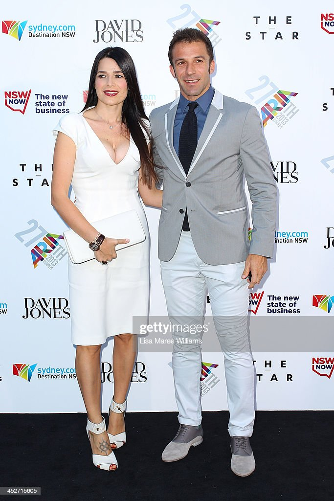 Allesandro Del Piero and Sonia Del Piero arrives at the 27th Annual ARIA Awards 2013 at the Star on December 1, 2013 in Sydney, Australia.