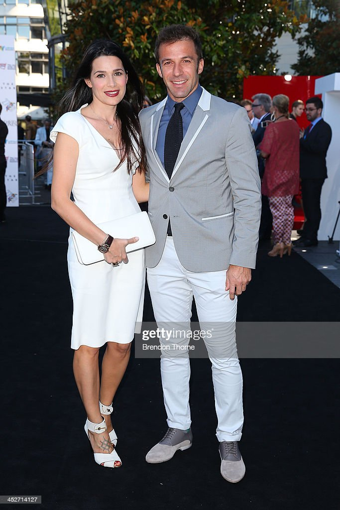 Allessandro Del Piero and his wife, Sonia arrive at the 27th Annual ARIA Awards 2013 at the Star on December 1, 2013 in Sydney, Australia.