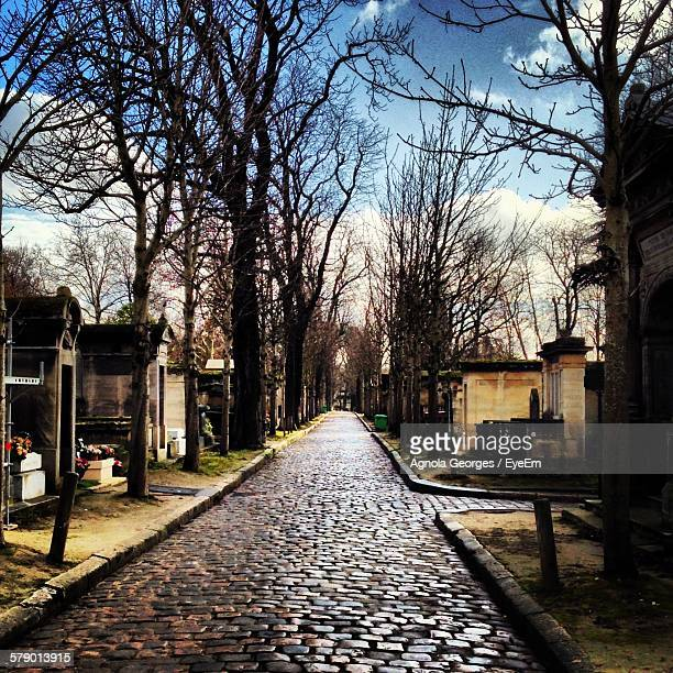Alley Amidst Pere Lachaise Cemetery