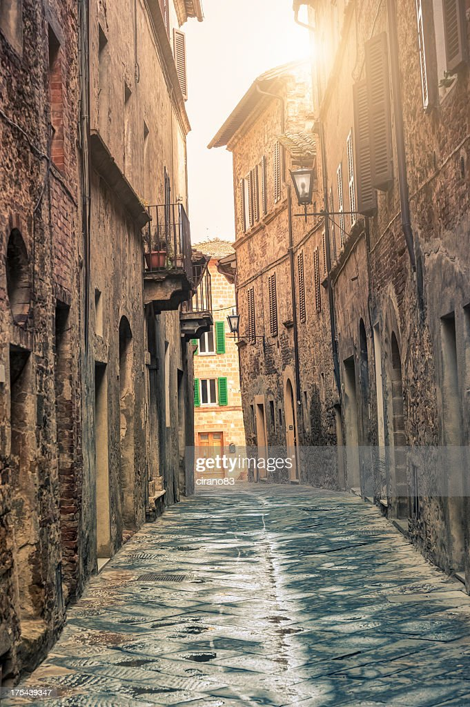 Alley in a Tuscan town