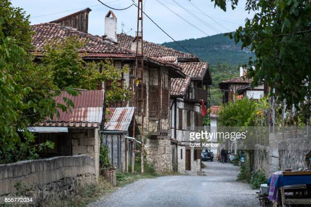 Alley with old houses at  of Yoruk Village, near Safranbolu, Karabuk Turkey
