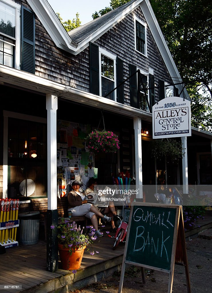 Alley's General Store, a popular destination, is seenn August 8, 2009 in Chilmark, Massachusetts on the island of Martha's Vineyard. President Barack Obama and his family will visit Martha's Vineyard and stay at the Blue Heron Farm off South Road in Chilmark while on vacation during the last week of August.