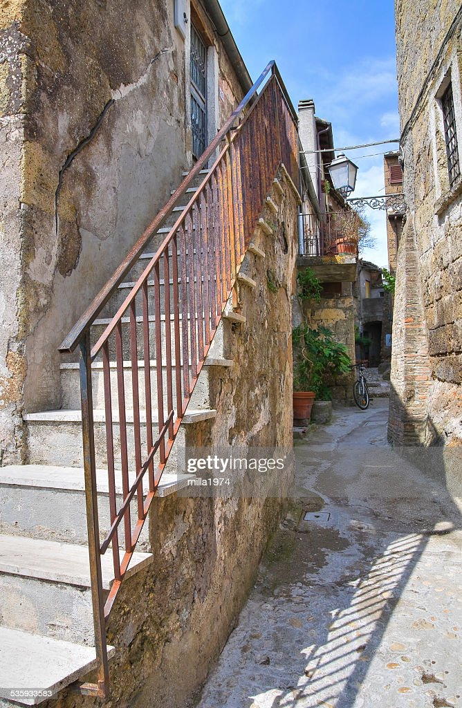 Alleyway. Calcata. Lazio. Italy. : Stock Photo