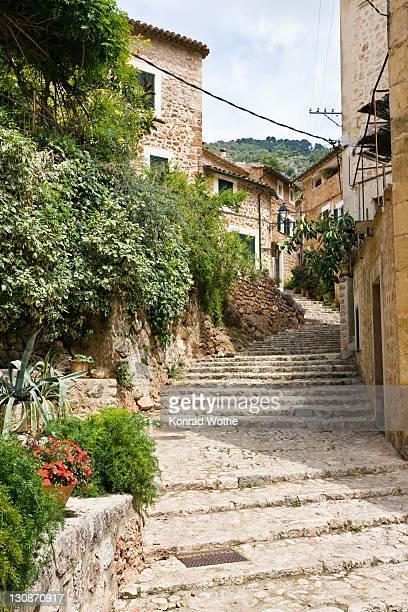 Alleyway, Fornalutx, Mallorca, Majorca, Balearic Islands, Spain, Europe
