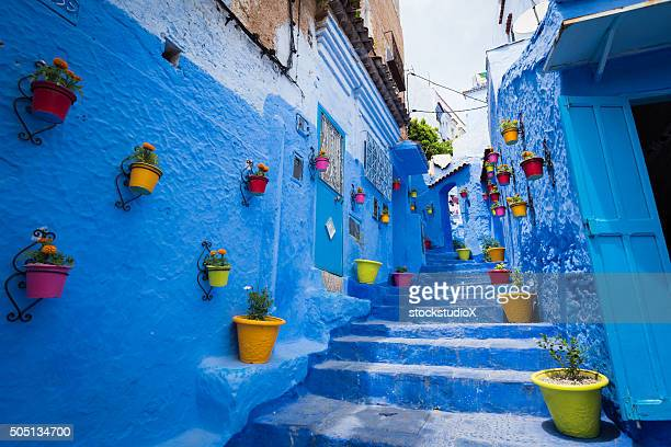 Alleyway in Chefchaouen, Morocoo