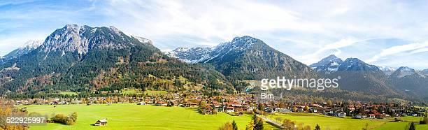 Allgäuer High Alpen, Stadt Oberstdorf und Ski Jump, Deutschland
