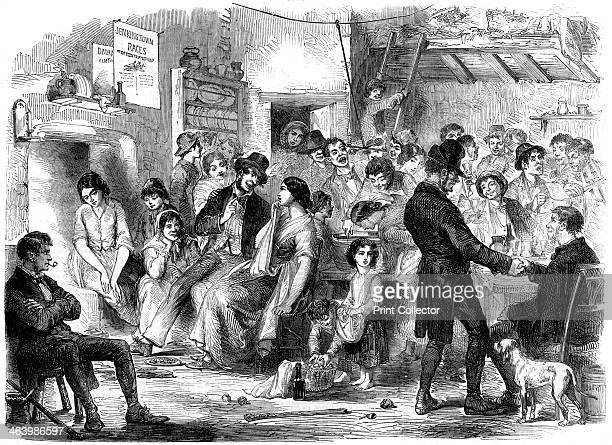 'Allhallow Eve' Kilkenny Ireland 1858 A print from The Illustrated London News 6th November 1858