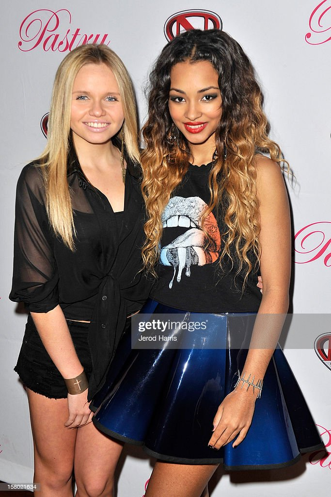 Alli Simpson and <a gi-track='captionPersonalityLinkClicked' href=/galleries/search?phrase=Jessica+Jarrell&family=editorial&specificpeople=6744949 ng-click='$event.stopPropagation()'>Jessica Jarrell</a> arrive at Pastry Shoes 'Skate & Donate' benefitting Toys For Tots on December 8, 2012 in Glendale, California.