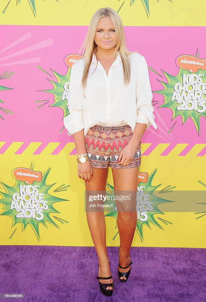 Alli Simpson arrives at Nickelodeon's 26th Annual Kids' Choice Awards at USC Galen Center on March 23, 2013 in Los Angeles, California.