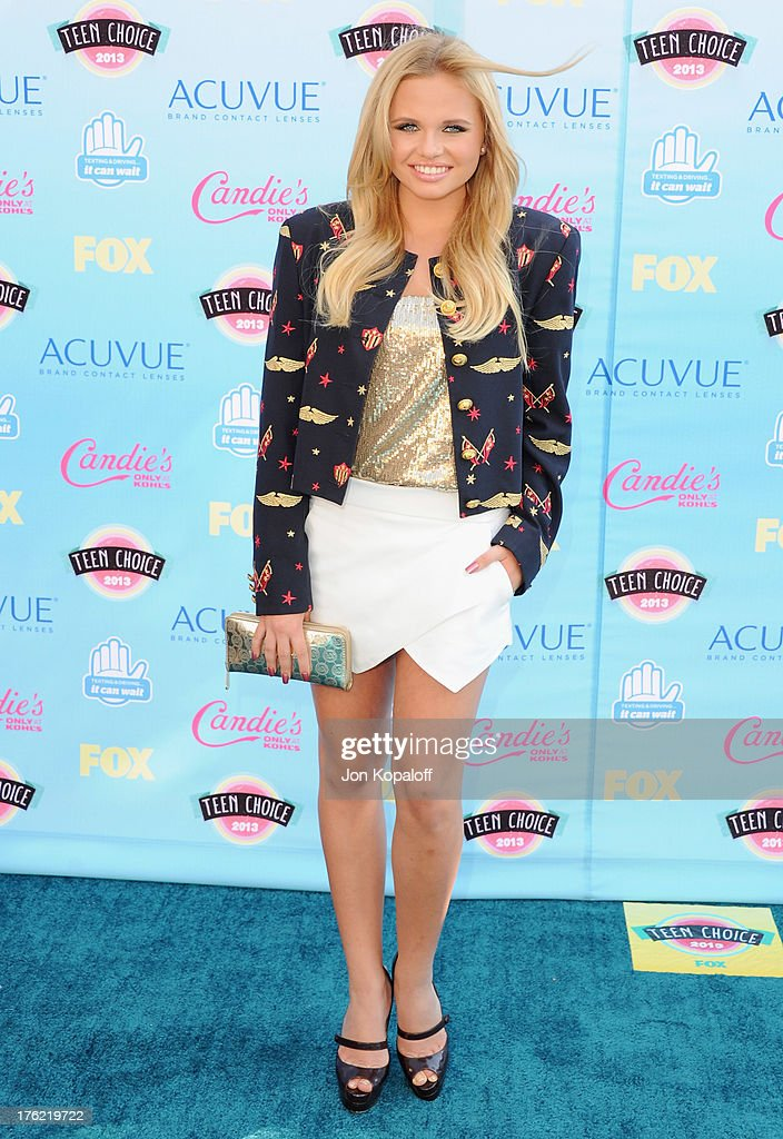 Alli Simpson arrives at the 2013 Teen Choice Awards at Gibson Amphitheatre on August 11, 2013 in Universal City, California.