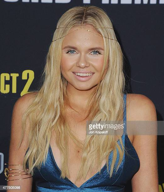 Alli Simpson arrives at the Los Angeles Premiere 'Pitch Perfect 2' at Nokia Theatre LA Live on May 8 2015 in Los Angeles California