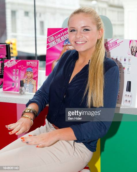 Alli Simpson attends Alli Simpson Signature Nail Series Launch Event at Dylan's Candy Bar on March 28 2013 in New York New York