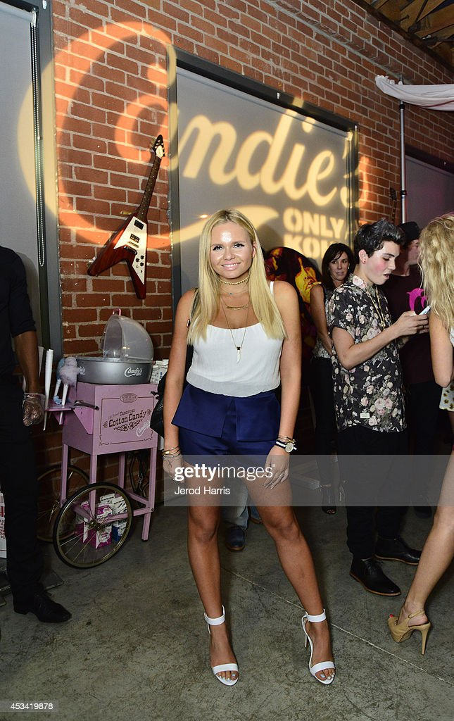 <a gi-track='captionPersonalityLinkClicked' href=/galleries/search?phrase=Alli+Simpson&family=editorial&specificpeople=7439624 ng-click='$event.stopPropagation()'>Alli Simpson</a> attends Candie's Presents The Official Pre-Party For Teen Choice 2014, A DigiTour Production at The Gibson Showroom on August 9, 2014 in Los Angeles, California.