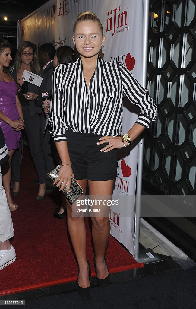 Alli Simpson attends iiJin's Fall/Winter 2013 'The Love Revolution' Clothing And Footwear Collection Fashion Show at Avalon on April 3, 2013 in Hollywood, California.