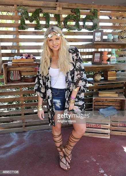 Alli Simpson attends The Music Lounge Presented By Mudd Op event at Ingleside Inn on April 12 2015 in Palm Springs California