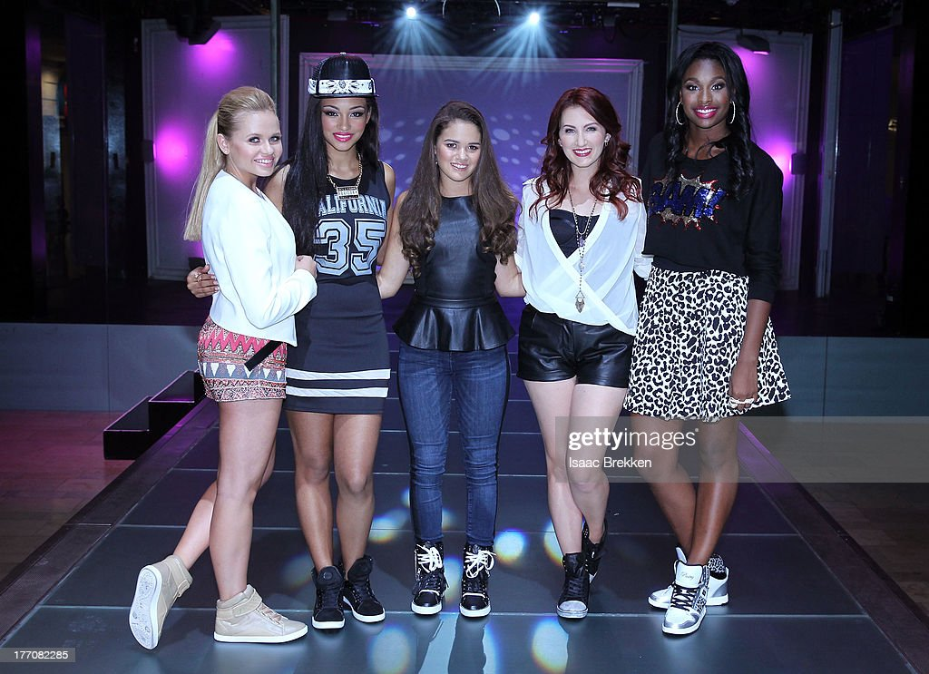 Alli Simpson, Jessica Jarrell, Madison Pettis, Katie Armiger and Coco Jones attend the Pastry Fashion Show with 1U mission at the Fashion Show mall on August 20, 2013 in Las Vegas, Nevada.