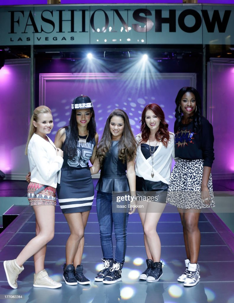 Alli Simpson, Madison Pettis, Coco Jones Katie Armiger and Jessica Jarrell attend the Pastry Fashion Show with 1U mission at the Fashion Show mall on August 20, 2013 in Las Vegas, Nevada.