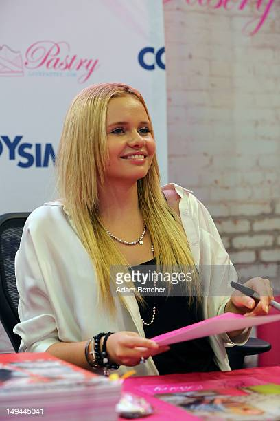 Alli Simpson meet fans and sign Pastry shoes at the Mall of America on July 28 2012 in Bloomington Minnesota