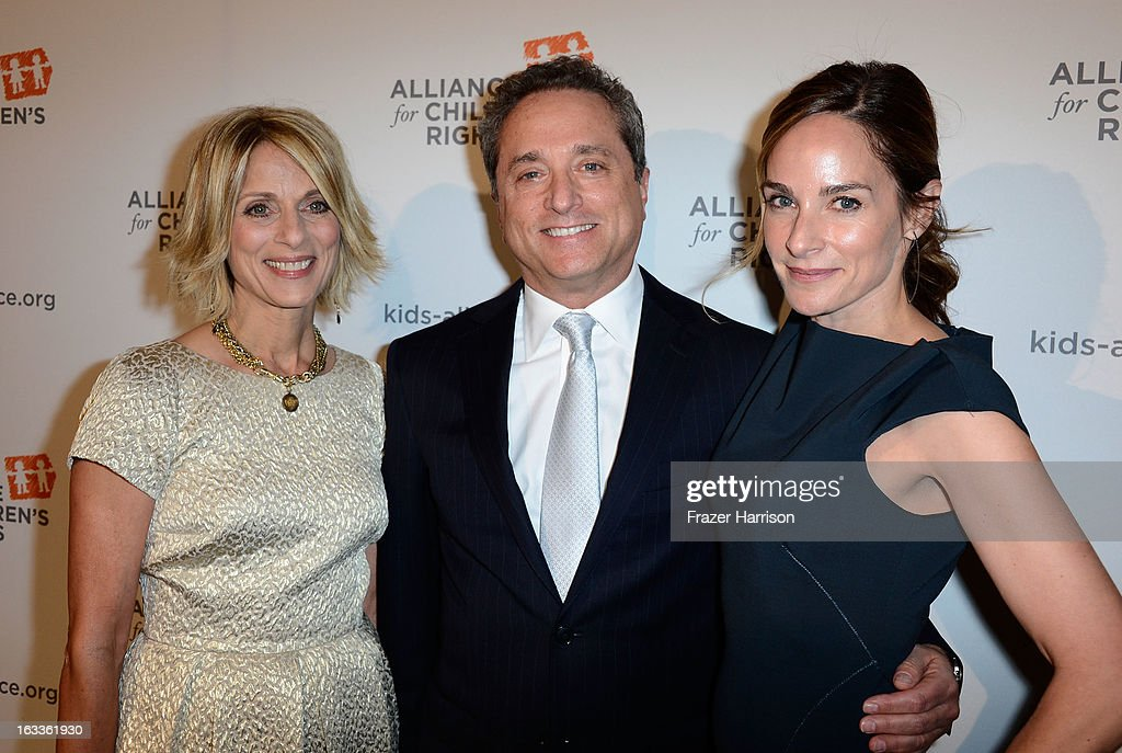 (L-R Alliance CEO and President Janis Spire , honoree Rick Rosen, Jodi Harris arrive at The Alliance For Children's Rights' 21st Annual Dinner at The Beverly Hilton Hotel on March 7, 2013 in Beverly Hills, California.