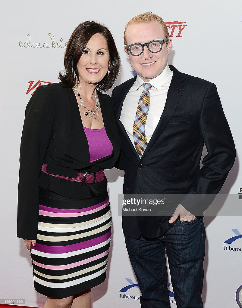 TS Alliance CEO Kari Luther Rosbeck (L) and actor Brad Wollack attend the Tuberous Sclerosis Alliance Comedy For A Cure 2013 at Lure on April 7, 2013 in Hollywood, California.