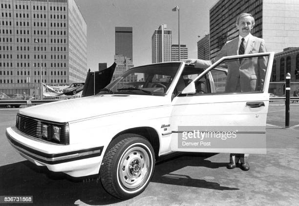 Alliance Debut in Denver Dale E Dawkins American Motors Corp vice president product group introduces the 1983 Renault Alliance to Denver The car...