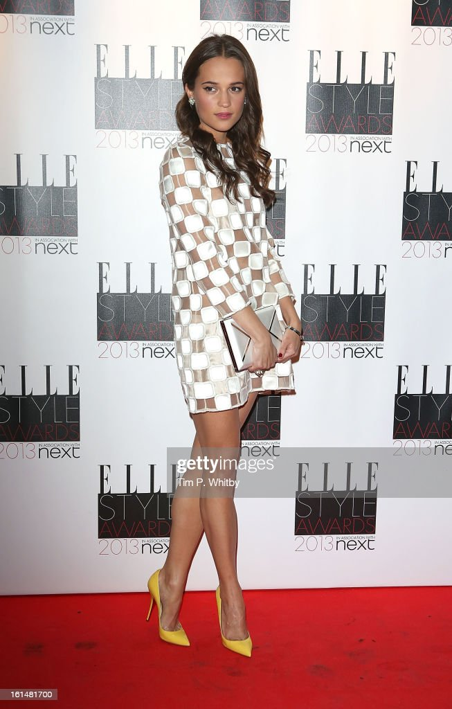 Allicia Vlkander attends the Elle Style Awards at Savoy Hotel on February 11, 2013 in London, England.