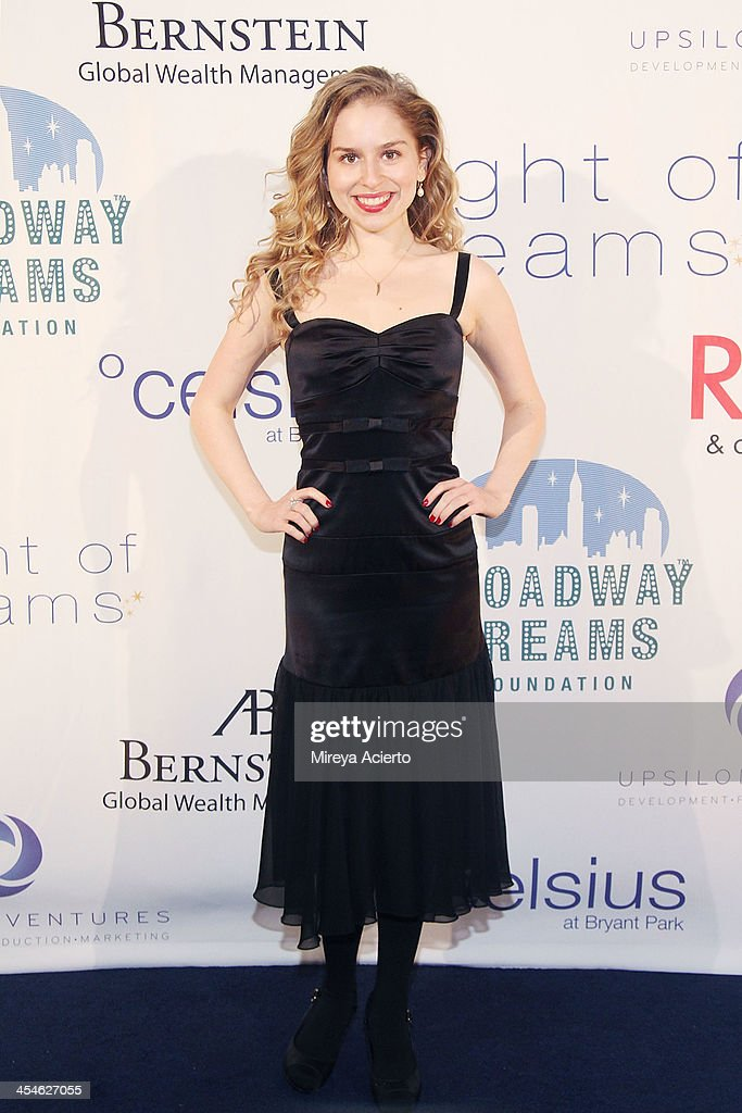 Allie Grant attends the 2013 Broadway Dreams Foundation's 'Night Of Dreams' gala at Celsius on December 9, 2013 in New York City.