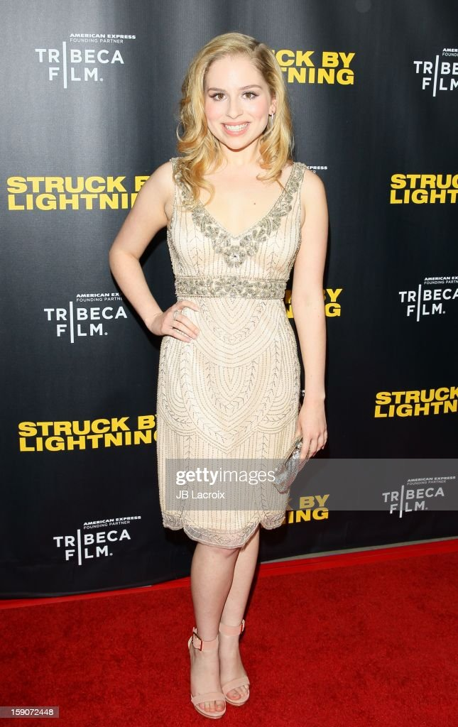 Allie Grant attends the 'Struck By Lighting' premiere held at Mann Chinese 6 on January 6, 2013 in Los Angeles, California.