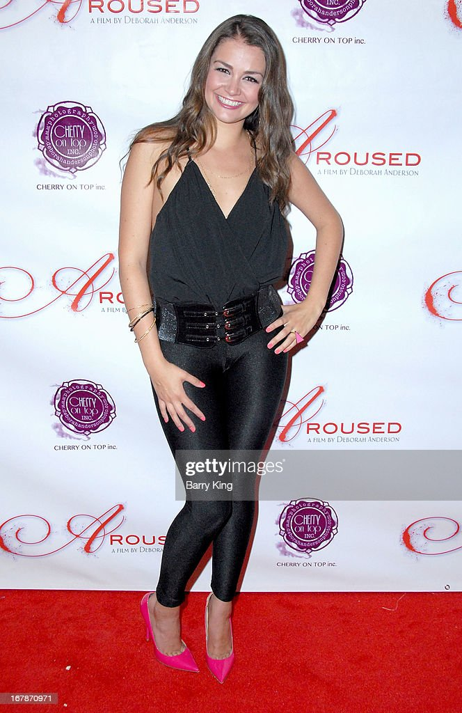Allie Haze attends the 'Aroused' - Los Angeles Premiere on May 1, 2013 at the Landmark Nuart Theatre in Los Angeles, California.