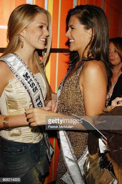 Allie Laforce and CHelsea Cooley attend Joonbug hosts the launch of GoTrumpcom sponsored by Blue Star Jets at Marquee NYC USA on January 24 2006