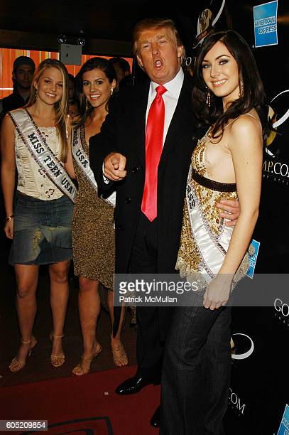 Allie Laforce Chelsea Cooley Donald Trump and Natalie Glebova attend Joonbug hosts the launch of GoTrumpcom sponsored by Blue Star Jets at Marquee...