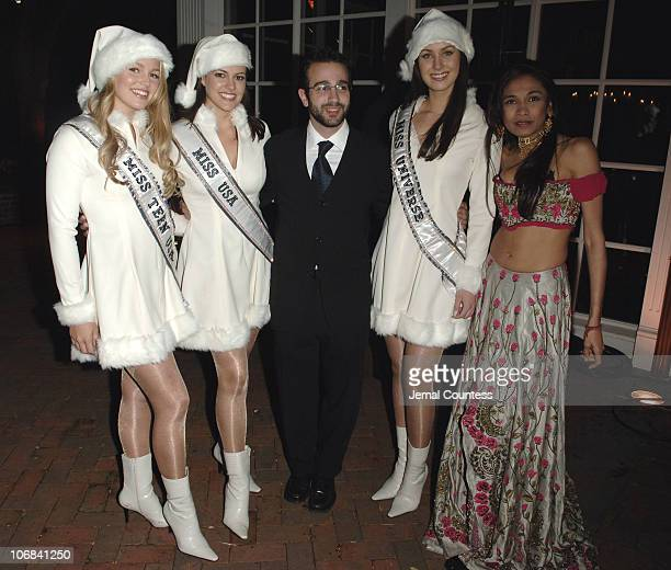 Allie LaForce Miss Teen USA 2005 Chelsea Cooley Miss USA 2005 Antonio Campos Natalia Glebova Miss Universe 2005 and Sanjana Jon