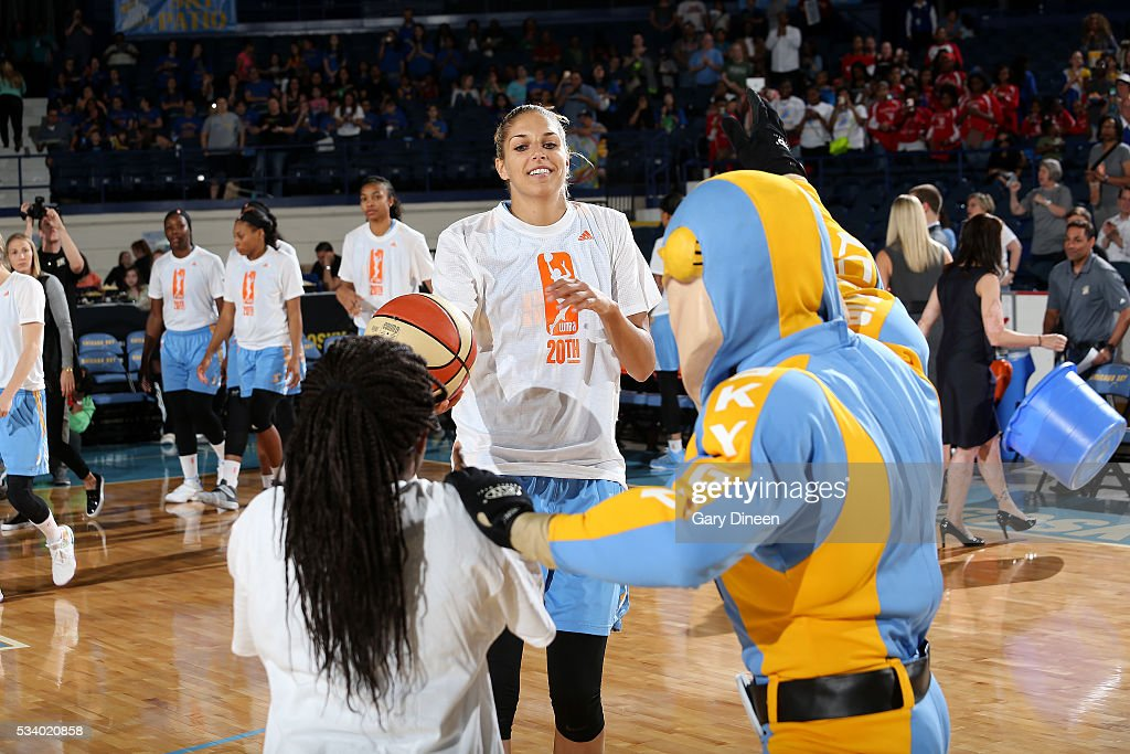 <a gi-track='captionPersonalityLinkClicked' href=/galleries/search?phrase=Allie+Quigley&family=editorial&specificpeople=5133567 ng-click='$event.stopPropagation()'>Allie Quigley</a> #14 of the Chicago Sky gets introduced before the game against the Los Angeles Sparks on May 24, 2016 at the Allstate Arena in Chicago, Illinois.