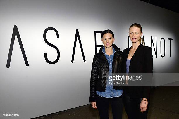 Allie Rizzo and Julie Henderson attend the Asaf Ganot fashion show during MercedesBenz Fashion Week Fall 2015 on February 13 2015 in New York City