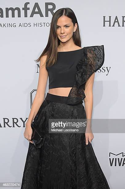 Allie Rizzo attends the 2015 amfAR New York Gala at Cipriani Wall Street on February 11 2015 in New York City